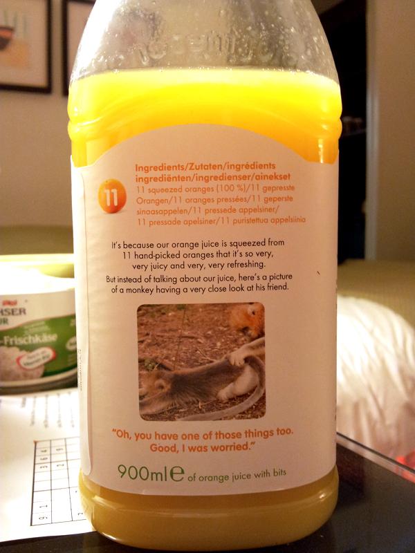 עזבו אתכם מתפוזים, הנה תמונה של קוף.